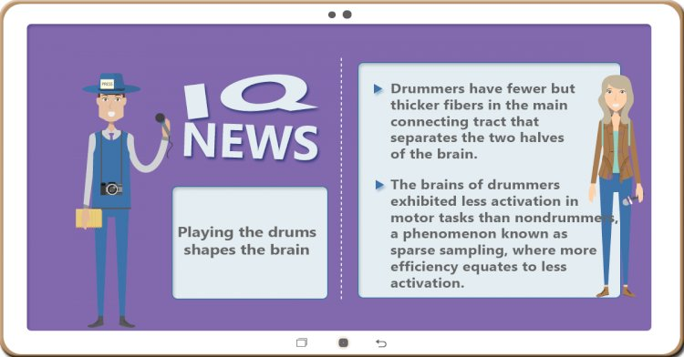 Playing the drums shapes the brain