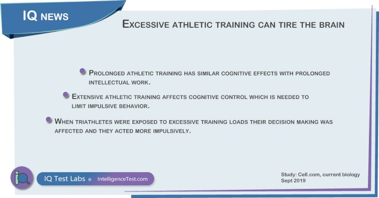 Excessive athletic exercise can tire the brain