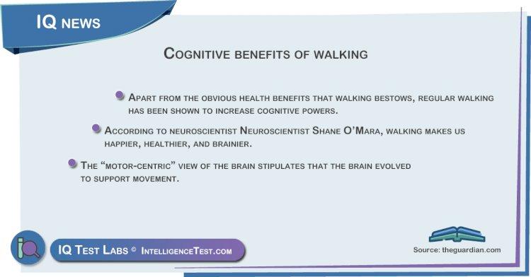 Cognitive benefits of walking