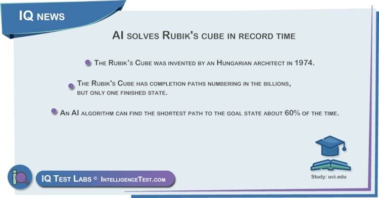 AI solves Rubik's cube in record time