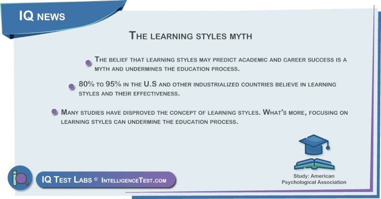 The learning styles myth