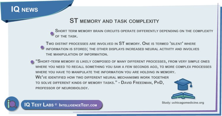 ST memory and task complexity