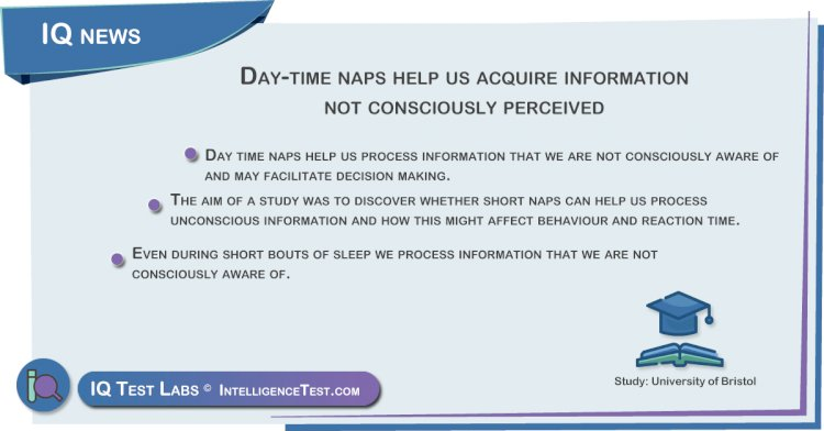 Day-time naps help us acquire information not consciously perceived