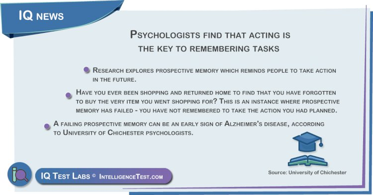 Prospective memory: acting is the key to remembering tasks