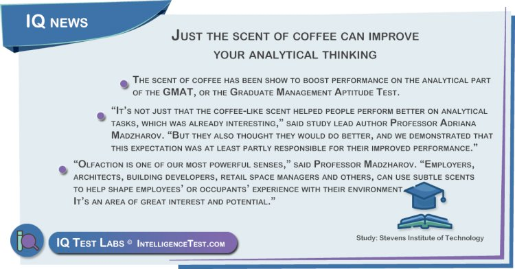 Just the scent of coffee can improve your analytical thinking